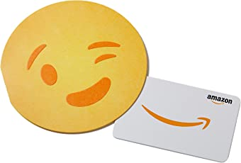 Amazon.com Gift Card in an Emoji Sleeve