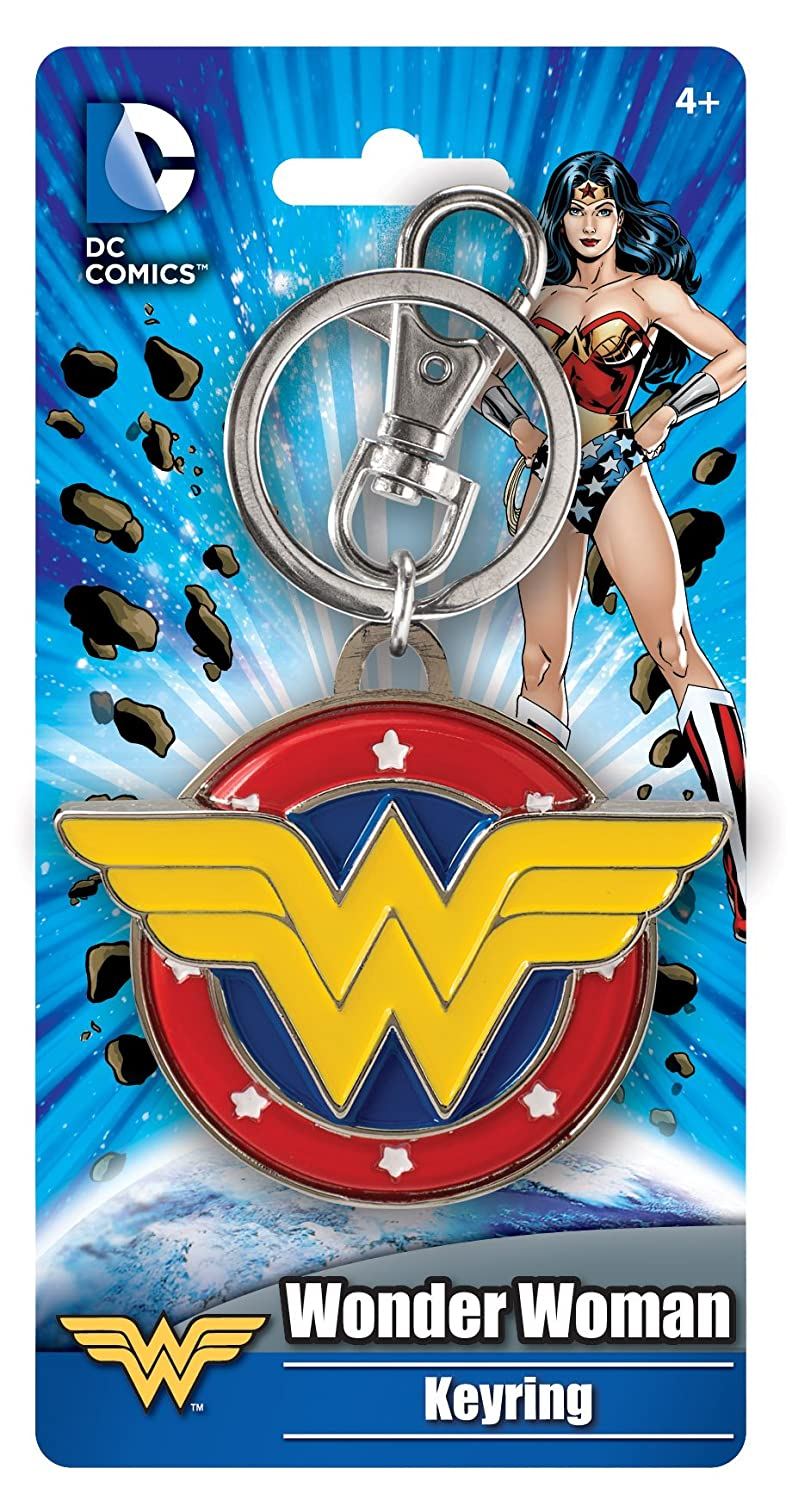 DC Comics Wonder Woman Colored Field Pewter Key Ring Action Figure Monogram International 45171