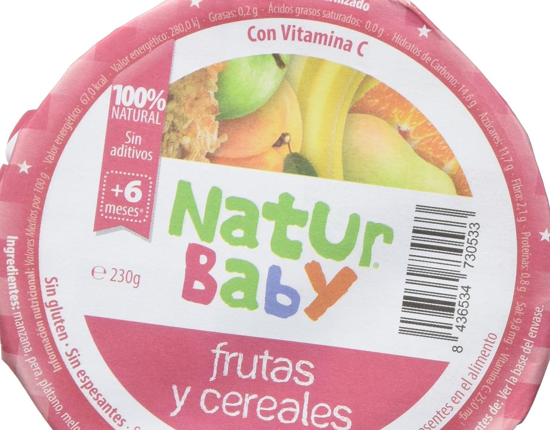 Natur Baby Puré Natural de Frutas y Cereales para Bebé - Paquete de 12 x 230 gr - Total: 2760 gr: Amazon.es: Alimentación y bebidas
