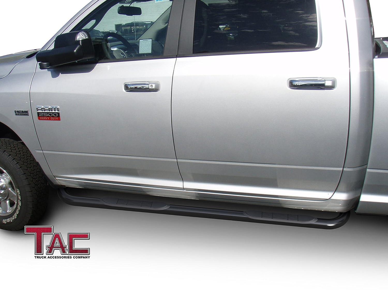 "// 2010-2019 Dodge Ram 2500//3500//4500//5500 Crew Cab Truck Pickup 3/"" Texture Black Side Bars Nerf Bars TAC Side Steps Running Boards Fit 2009-2018 Dodge Ram 1500 Crew Cab Incl. 2019 Ram 1500 Classic"
