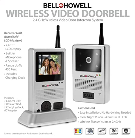 Amazon Bell Howell 8553 24 Ghz Wireless Video Door Intercom