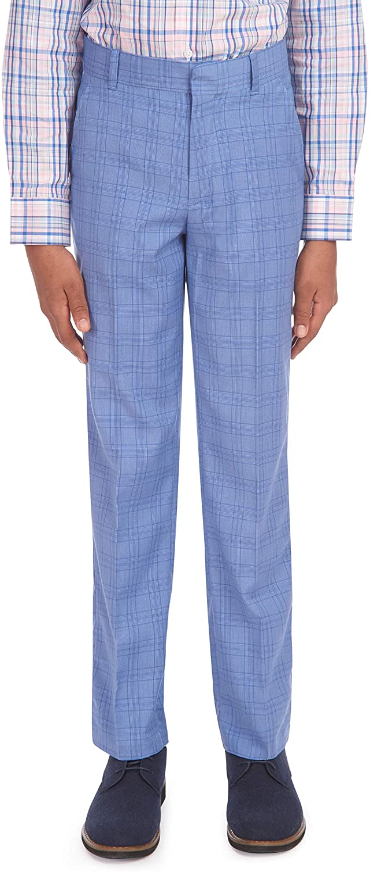 Tommy Hilfiger Boys Flat Front Patterned Dress Pant