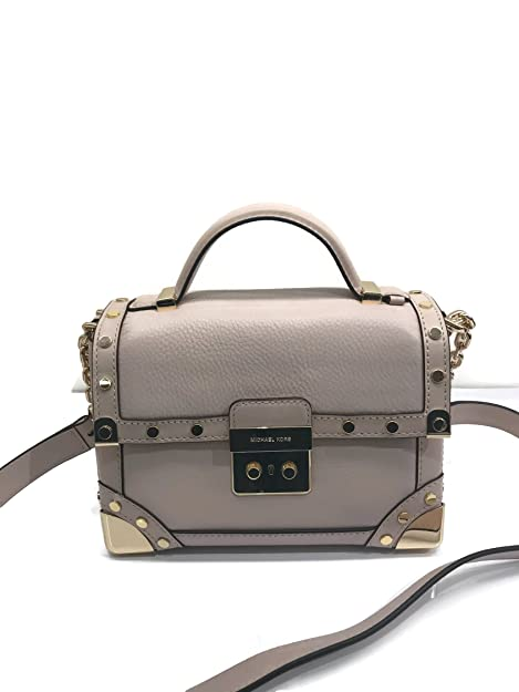 887d19e2e18f MICHAEL Michael Kors Cori Small Leather Trunk Bag - Soft Pink  Amazon.ca   Shoes   Handbags