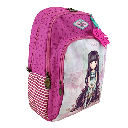 Santoro Gorjuss Cityscape - Mochila de Triple Bolsillo, Color Rosa: Amazon.es: Equipaje