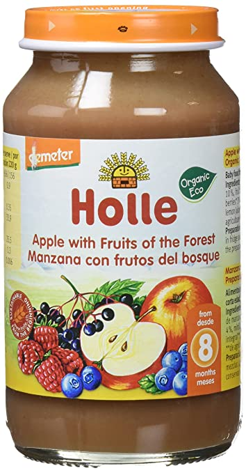 Holle Potito de Frutas del Bosque y Manzana (+8 meses) - Paquete ...