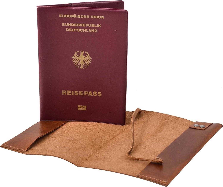 Gusti Leder studio Passport Cover - 2P44-22-5 light brown brown