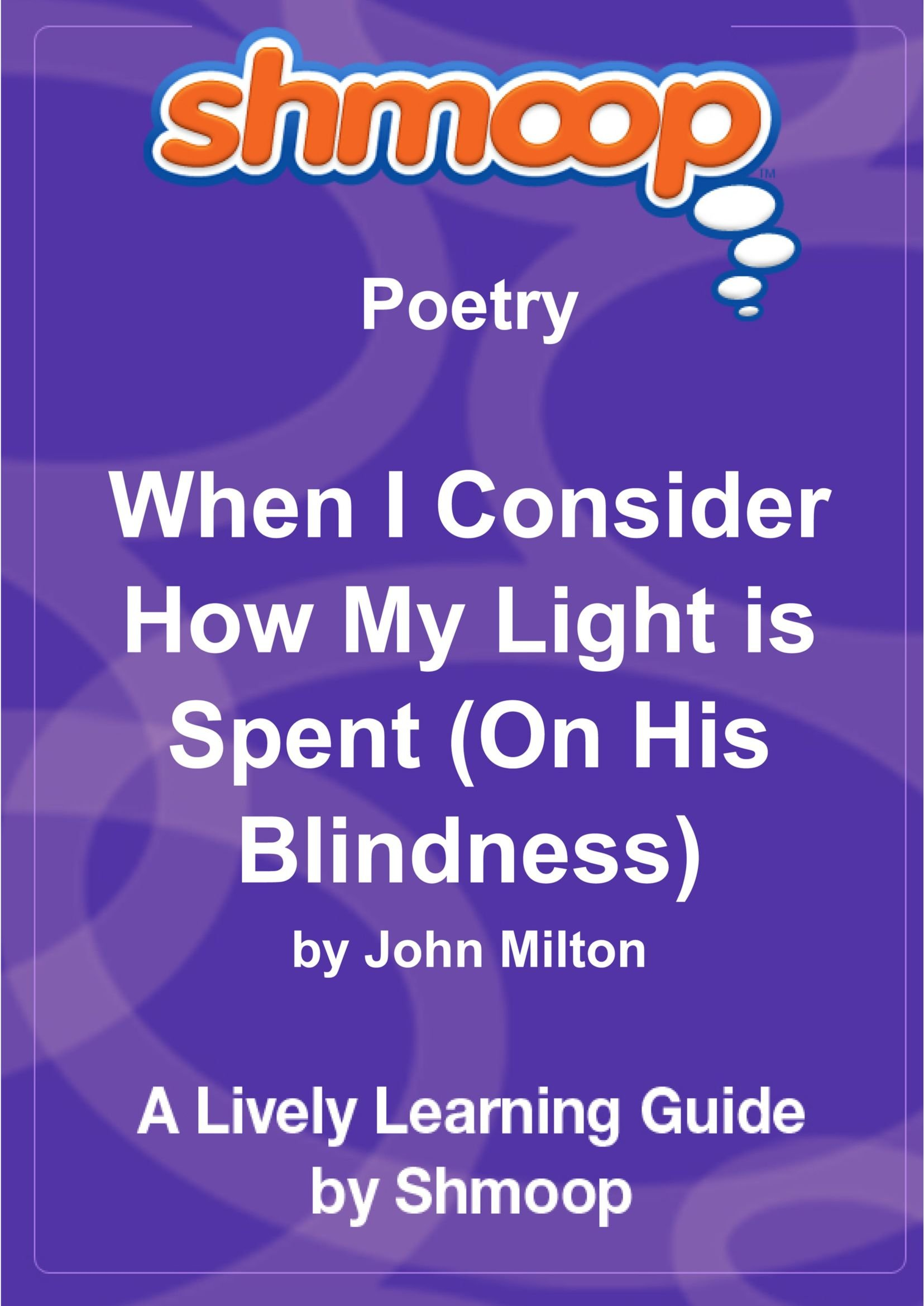 on his blindness poem line by line analysis