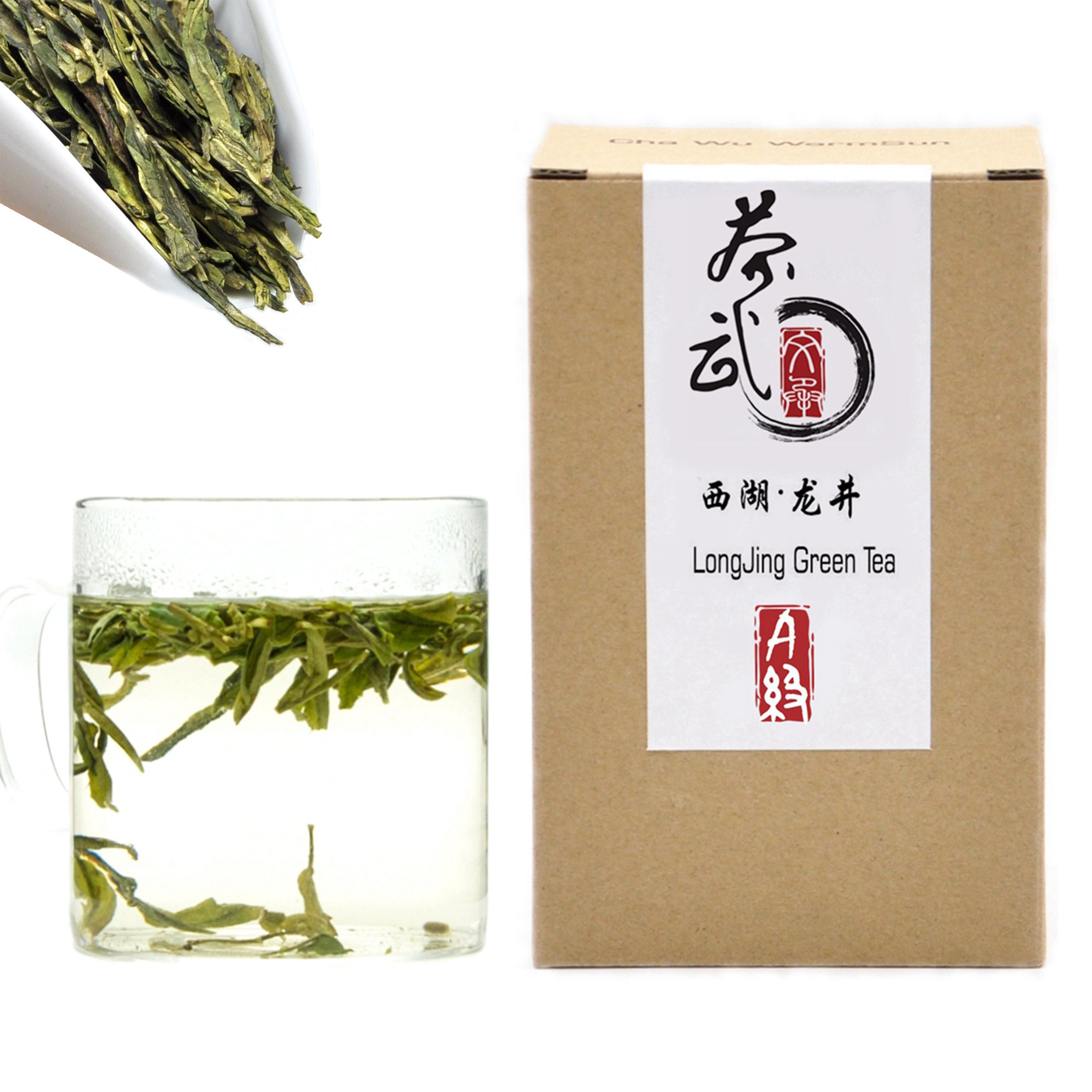 Cha Wu-[A] LongJing Green Tea,8.8oz/250g,Chinese Green Tea Loose Leaf