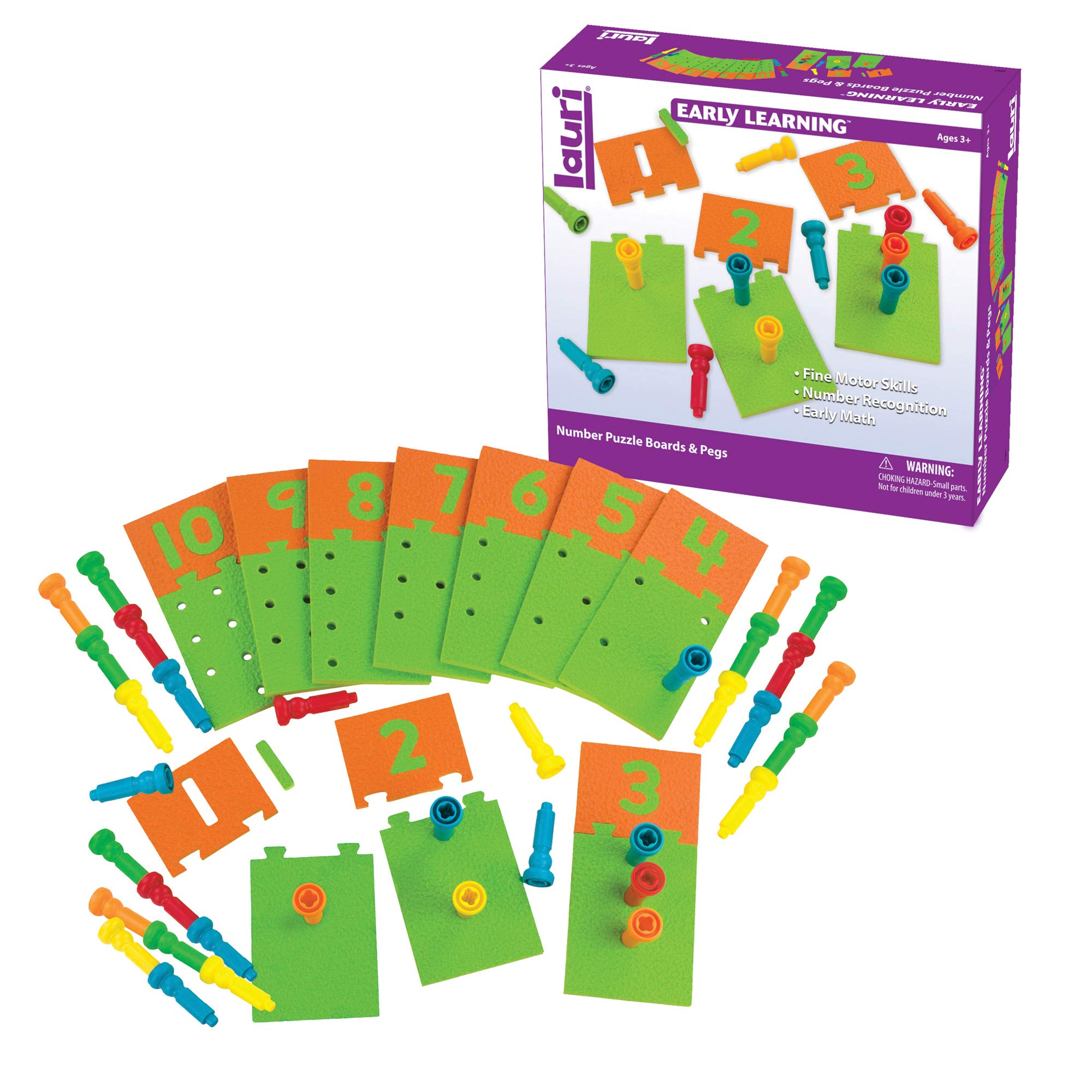 Lauri Number Puzzle Boards & Pegs by PlayMonster
