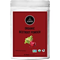 Organic Beet Root Powder (8 Ounces) by Naturevibe Botanicals, Raw & Non-GMO | Nitric Oxide Booster | Boost Stamina and Increases Energy