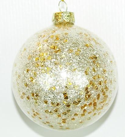 En caja Set de cuatro bolas de Navidad soplado artesanalmente ...