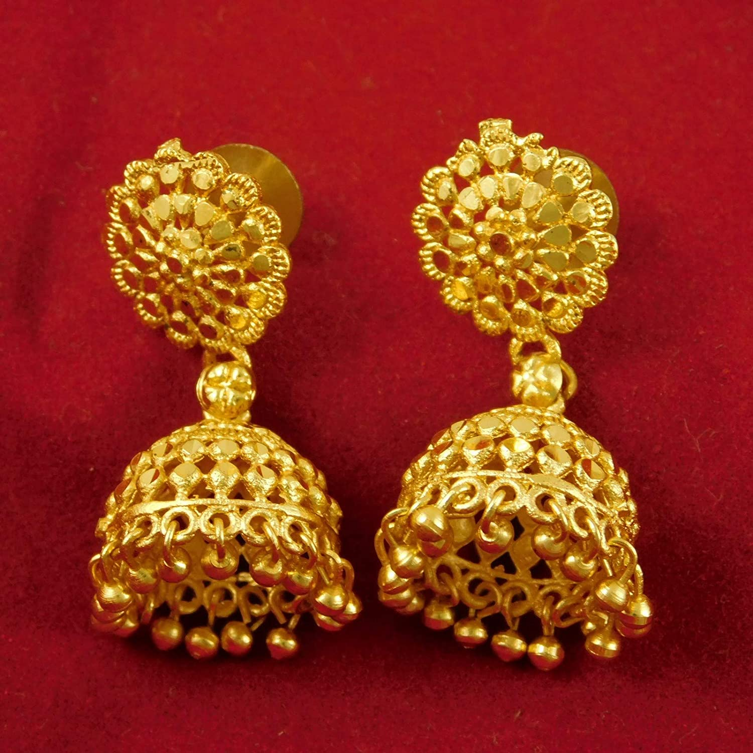 ShoppingHUB Get Closer Hollywood Designer Gold Plated Earring Traditional Ethnic Jhumka Wedding Jewelry