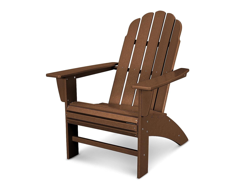 POLYWOOD Vineyard Curveback Adirondack Chair Teak