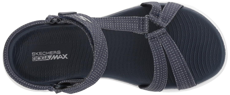 Skechers Women's on-The-Go 600-Brilliancy Wide Sport Sandal B072T34MZZ 12 M US Navy