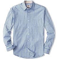 CQR Men's Regular Fit Long Sleeve Shirts, 100% Cotton Button-Up Casual Poplin Shirt