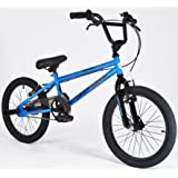 """Muddyfox Griffin 18"""" BMX Bike with Stunt Pegs - Black and Blue - Boys - New Model - Online Exclusive!"""