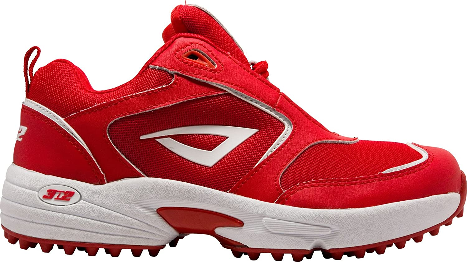 3N2 スポーツ 野球 シューズ 3N2 Men's MOFO Turf Mid Baseball Trainer RedWhite [並行輸入品] B072MNH7W6 6