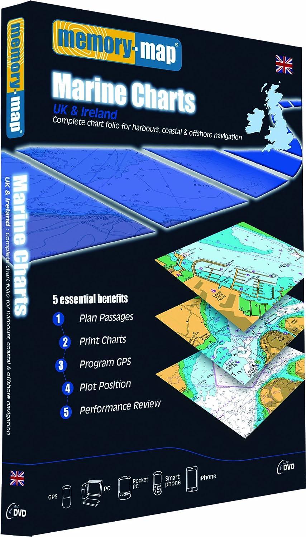 Memory-Map Carta Marina - Reino Unido e Irlanda: Amazon.es ...