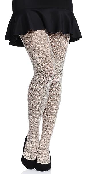 Merry Style Medias Algodón con Estampado Lencería Sexy Panty MujerMS 401 200 DEN (Café Claro, S (Tamaño del fabricante: 2)): Amazon.es: Ropa y accesorios