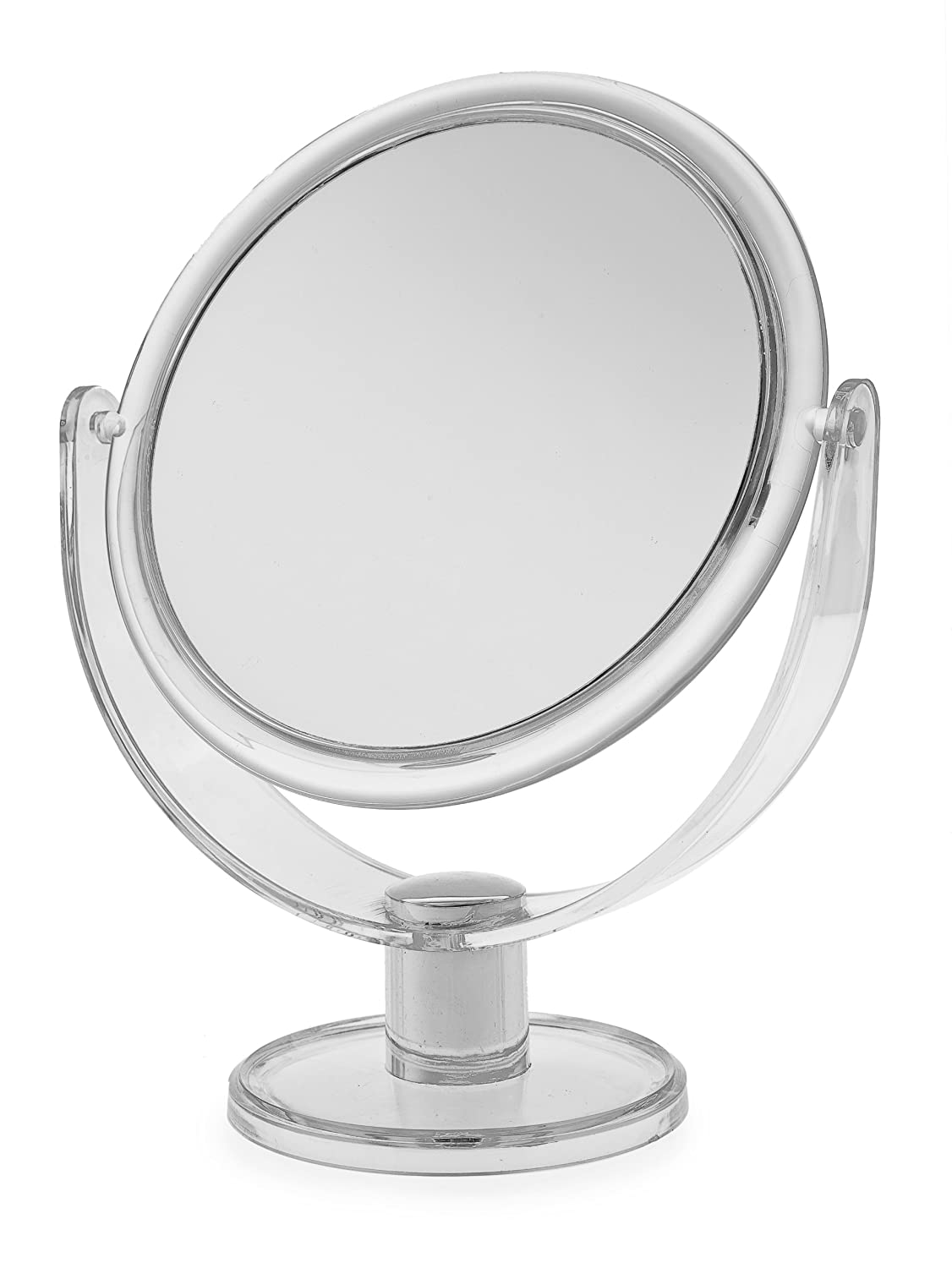 Blue Canyon Plastic Makeup Round Mirror on Stand, Large BA-2019