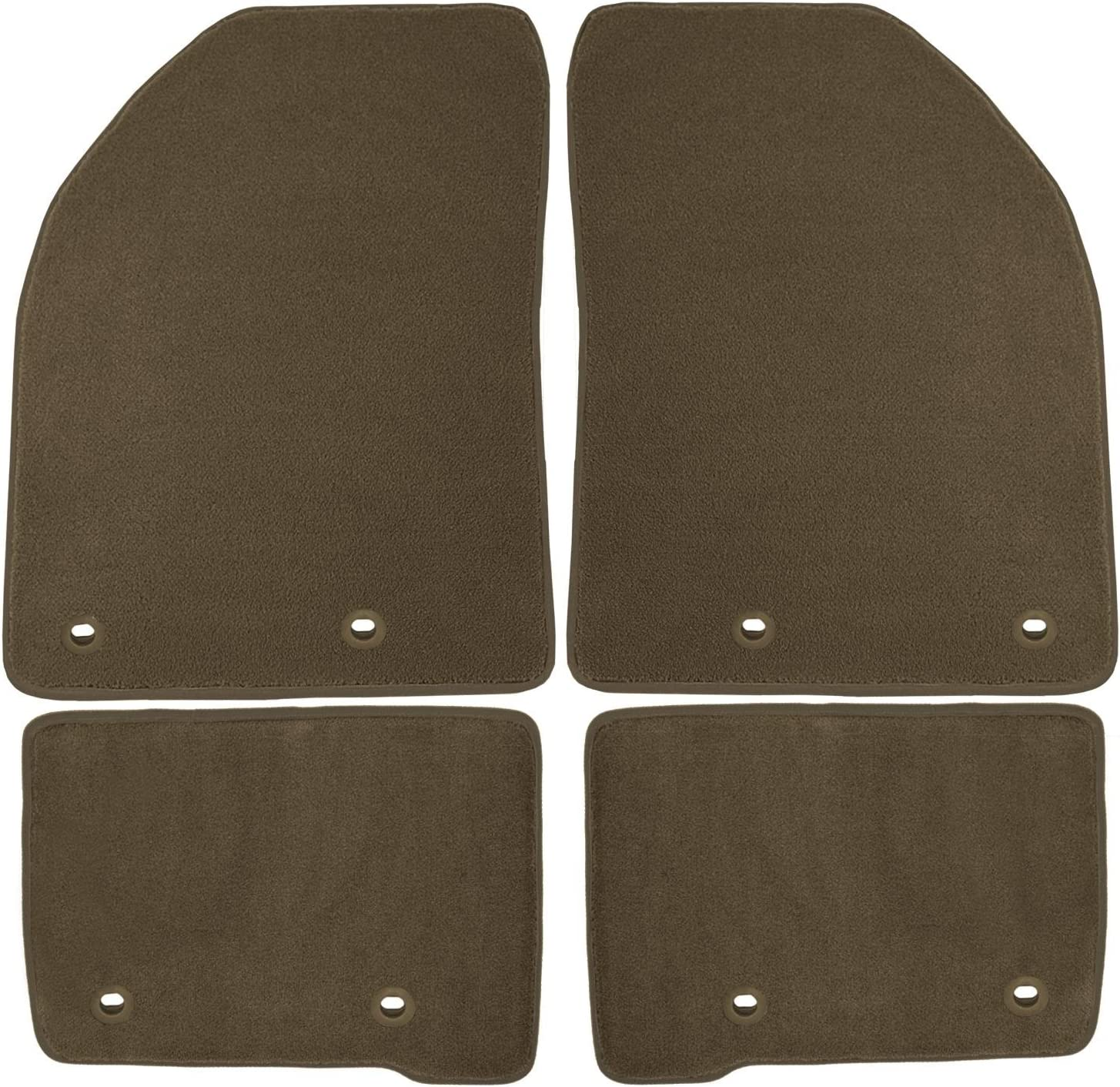 70 Oz Carpet Oak Coverking Front Custom Fit Floor Mats for Select Lexus GX470 Models