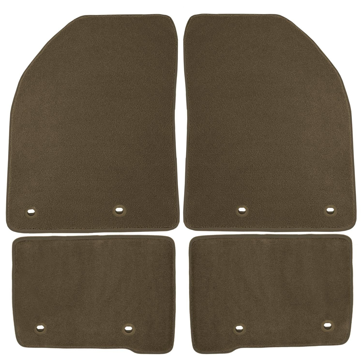 Black Nylon Carpet Coverking Custom Fit Front Floor Mats for Select Nissan Sentra Models