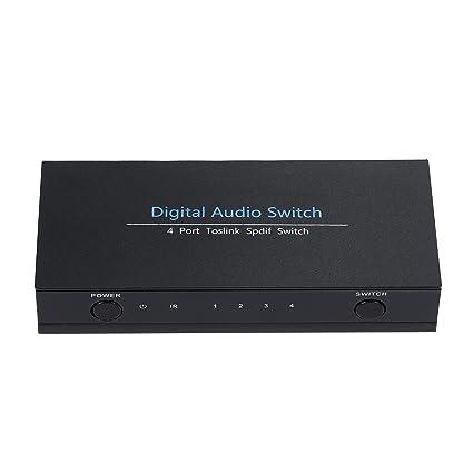 kuyia SPDIF/Toslink Digital Óptico Audio Swicth/Switcher con mando a distancia por infrarrojos: Amazon.es: Electrónica