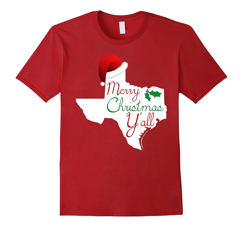 Texas Christmas Shirt - Merry Christmas Y'all Texas XMas Tee-FL