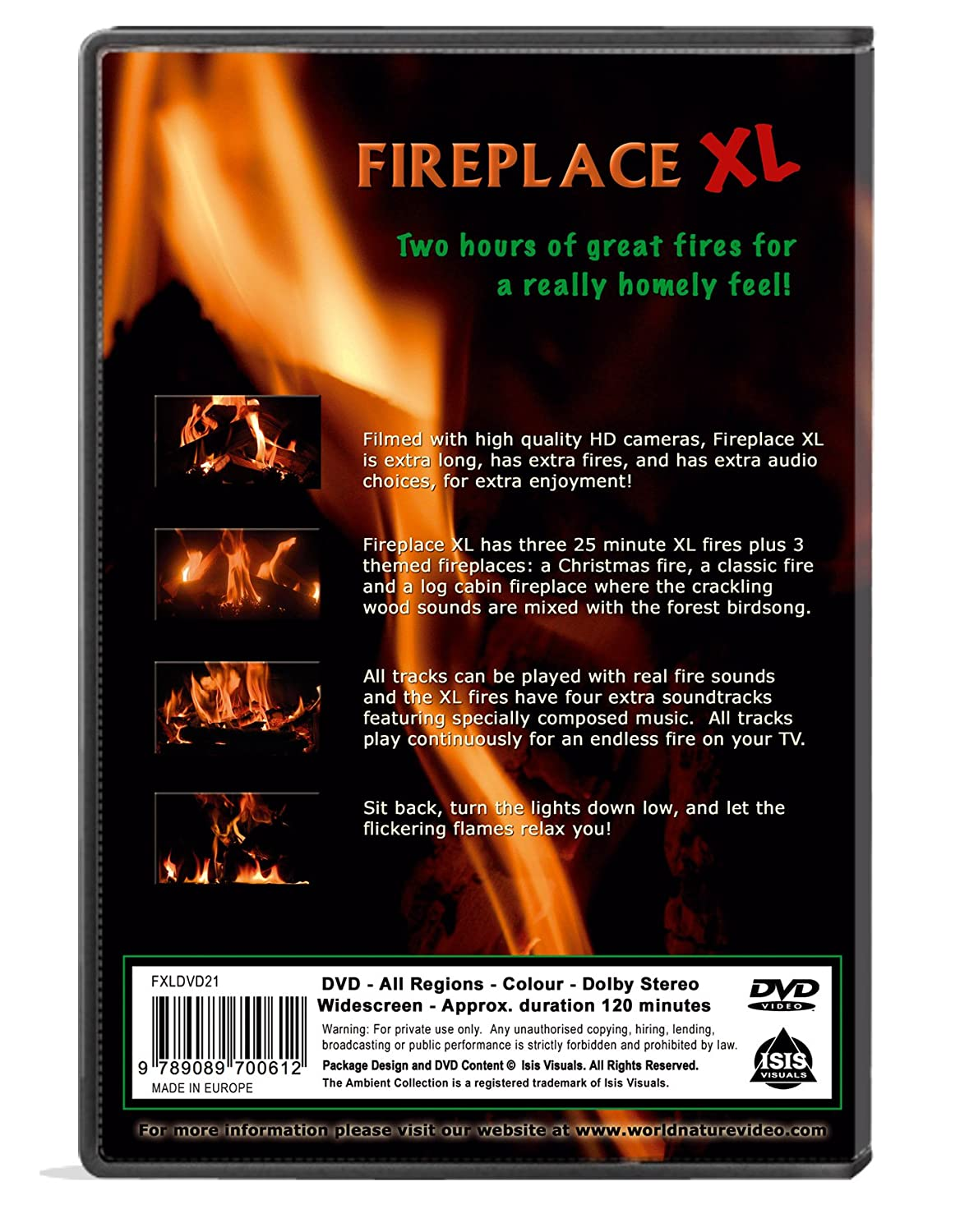 Amazon.com: Fire DVD - Fireplace XL - Extra Long Open Hearth Fires with Burning Wood Sounds: The Ambient Collection