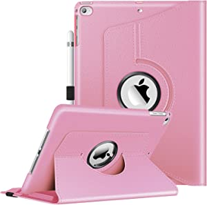 Fintie Case for iPad 9.7 2018 2017 / iPad Air 2 / iPad Air - 360 Degree Rotating Protective Stand Cover with Auto Sleep Wake for iPad 9.7 inch (6th Gen, 5th Gen) / iPad Air 2 / iPad Air, Pink
