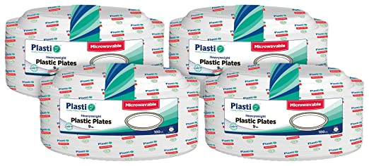 plasti Plus 400 Count platos desechables (plástico pesado, se ...