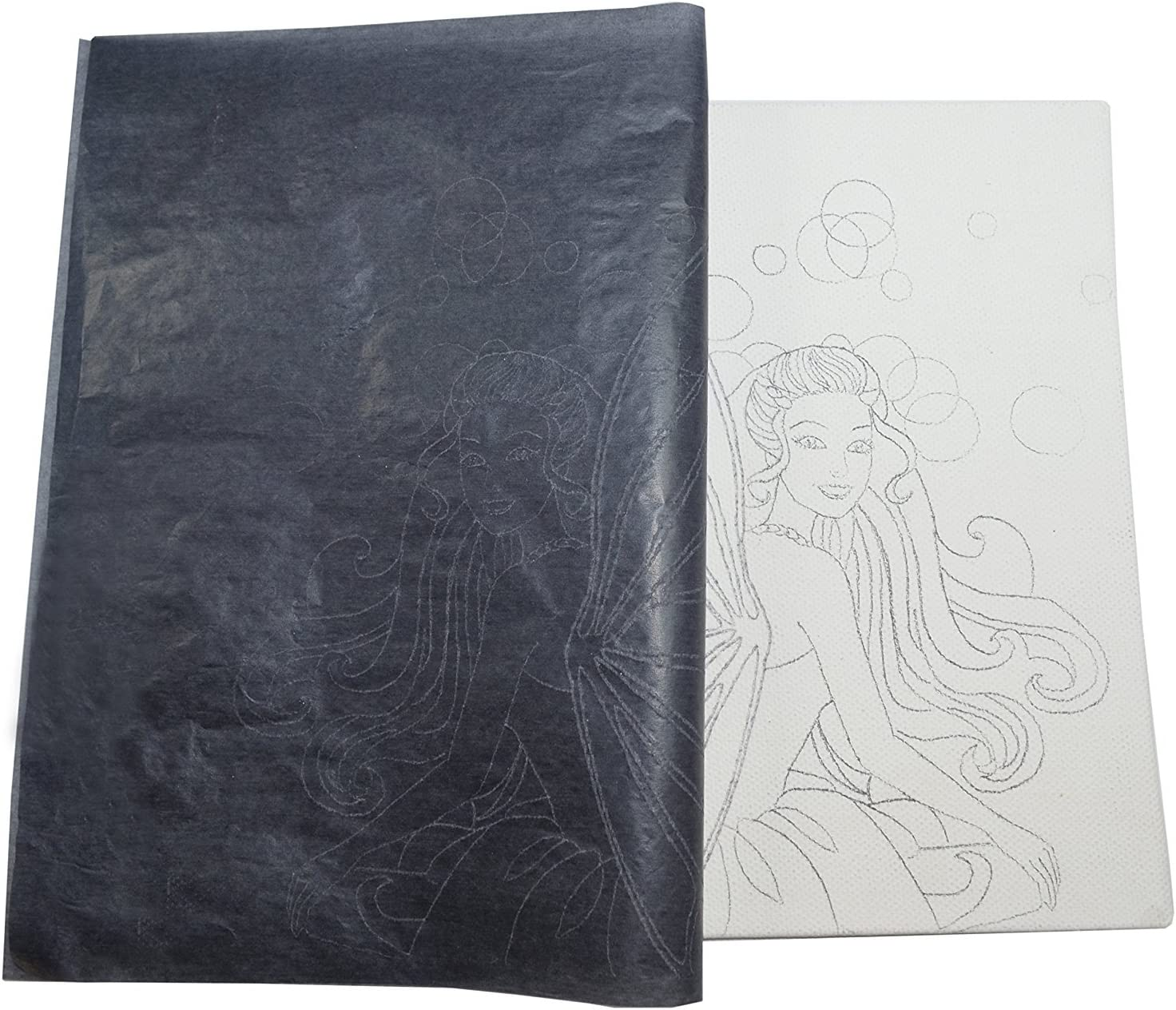 Black 50 Sheets Graphite Transfer Tracing Carbon Paper 9 x 13 Inch - for Drawings and Photos onto Wood Fabric Metal Canvas Paper