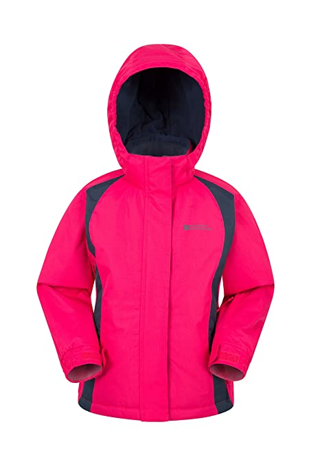 512d4e2bf7a9c Mountain Warehouse Honey Kids Ski Jacket - Boys   Girls Winter Coat Dark  Pink 2-