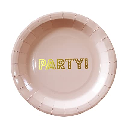 Ginger Ray PP-601 Pastel Perfection Gold Foiled Party Paper Plates (8 Pack)  sc 1 st  Amazon.com & Amazon.com: Ginger Ray PP-601 Pastel Perfection Gold Foiled Party ...