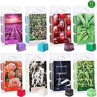 YIH Set of 8 Assorted Wax Cubes/Melts/Tarts - 2.5 oz Each Apple, Aloe, Green Tea, Sandalwood, Rose, Vanilla, Jasmine…