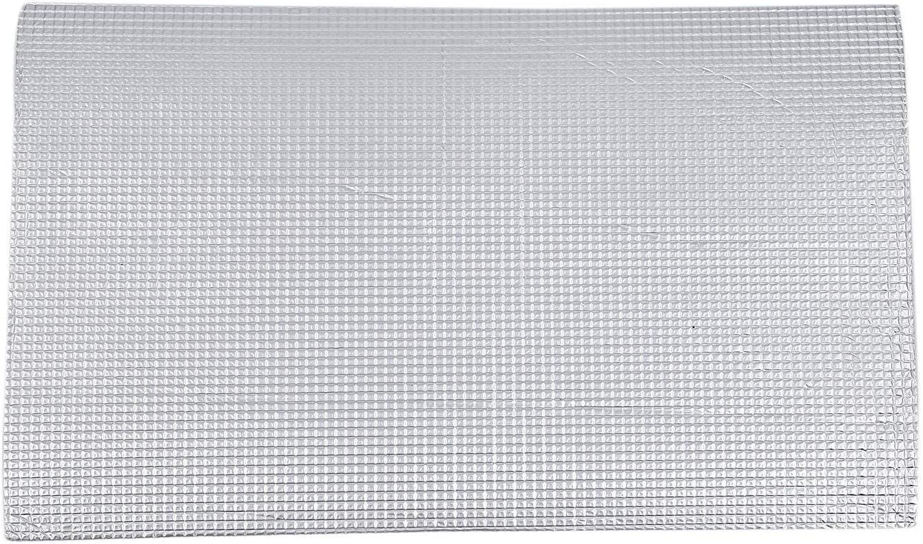 Nrpfell 12 Piezas Puerta Cortafuegos para AutomóVil Puerta de Techo Papel de Aluminio Cortafuegos Automotriz Apagador AcúStico Aislamiento TéRmico Aislamiento 50Cmx30Cm