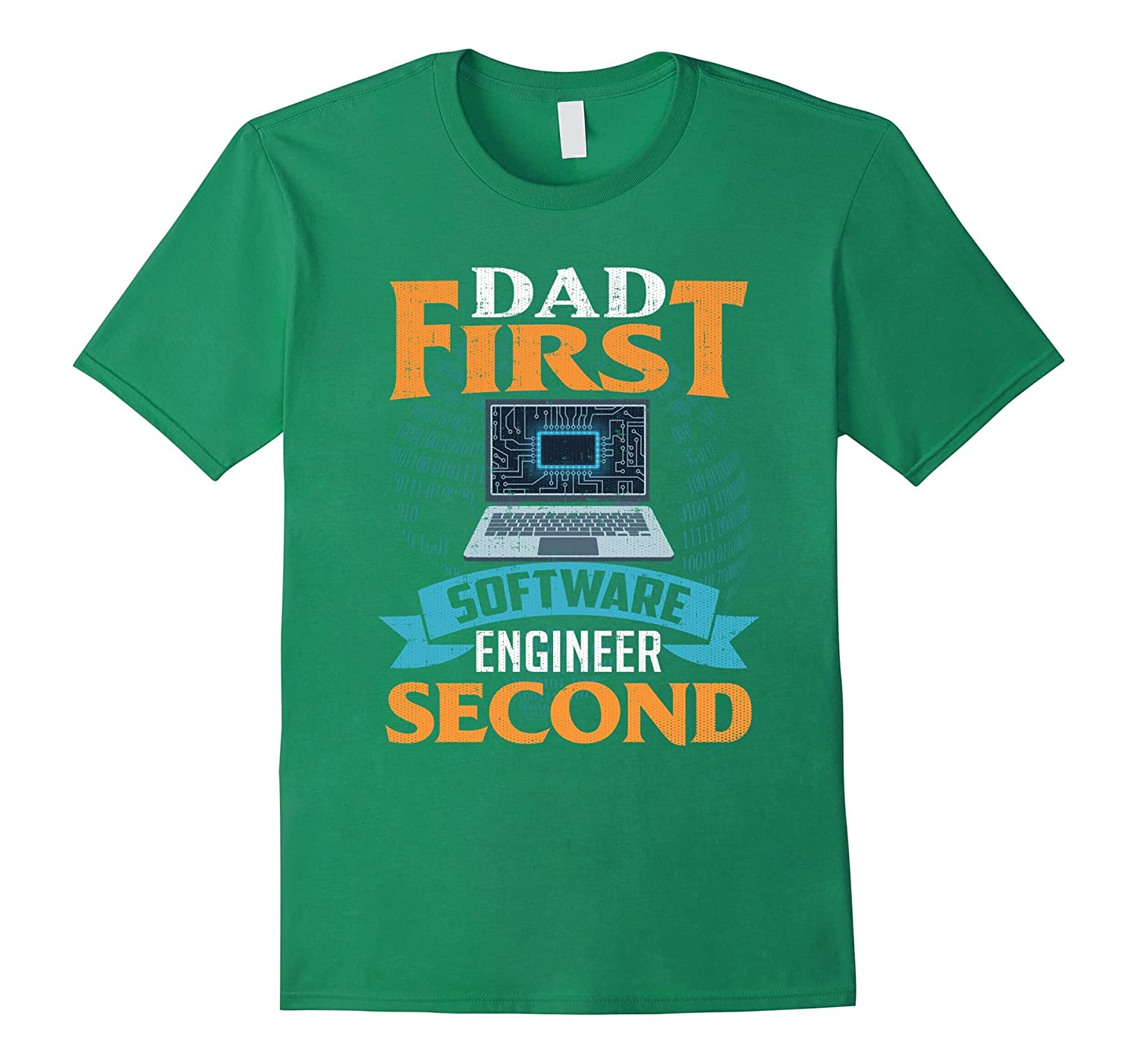 Mens Best Dad First Software Engineer Second Cool Birthday Gift PL