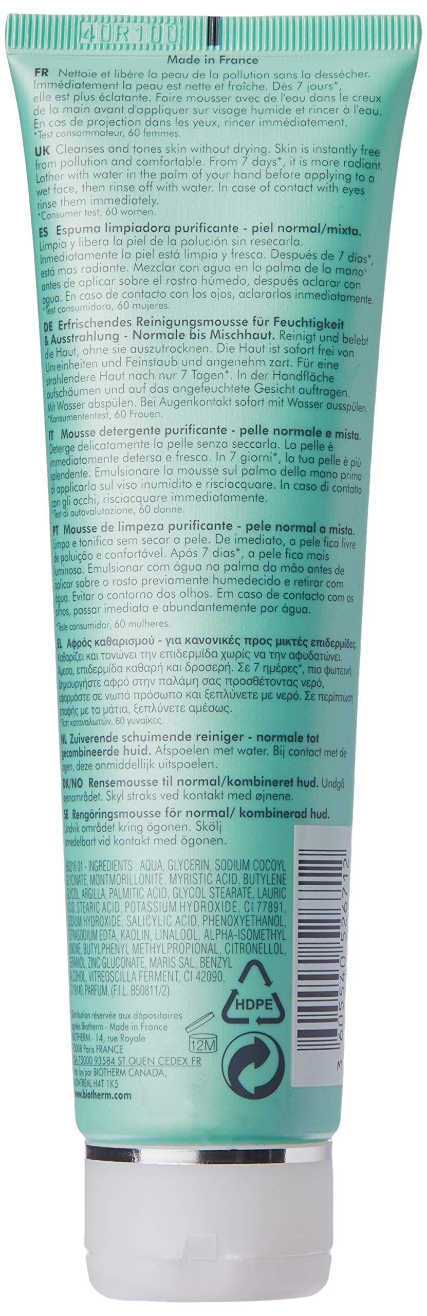 Biotherm Biosource Hydra-Mineral Cleanser Toning Mousse (N-C) Skin for Unisex, 5.07 Ounce by Biotherm (Image #3)