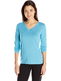 Hanes Womens Sport Cool Dri Performance Long Sleeve V-Neck Tee Shirt