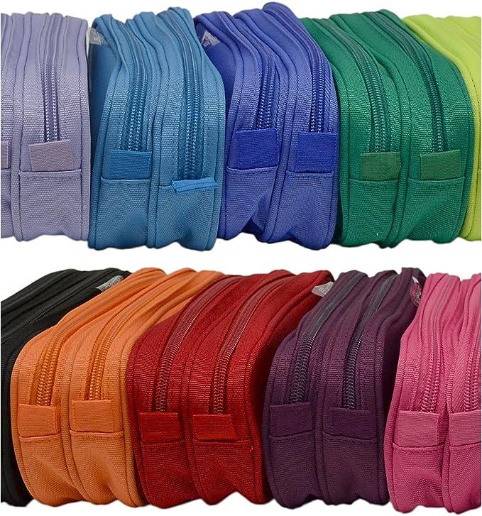 Colorline 59811 - Portatodo Doble, Estuche Multiuso para Viaje, Material Escolar, Neceser y Accesorios. Color Fucsia, Medidas 21 x 9 x 5.5 cm: Amazon.es: Oficina y papelería