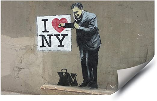 Banksy Graffiti stencil girl with heart balloon Vinyl Decal permanent in//outdoor