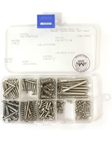 MAKA Guitar Screw Kit Assortment Box Kit for Electric Guitar Bridge, Pickup, Pickguard,