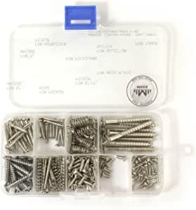 Maka Guitar Screw Kit Assortment Box Kit for Electric Guitar Bridge Pickup Pickguard Tuner Switch Neck Plate with Springs 9 Types Total 149 Screws Chrome