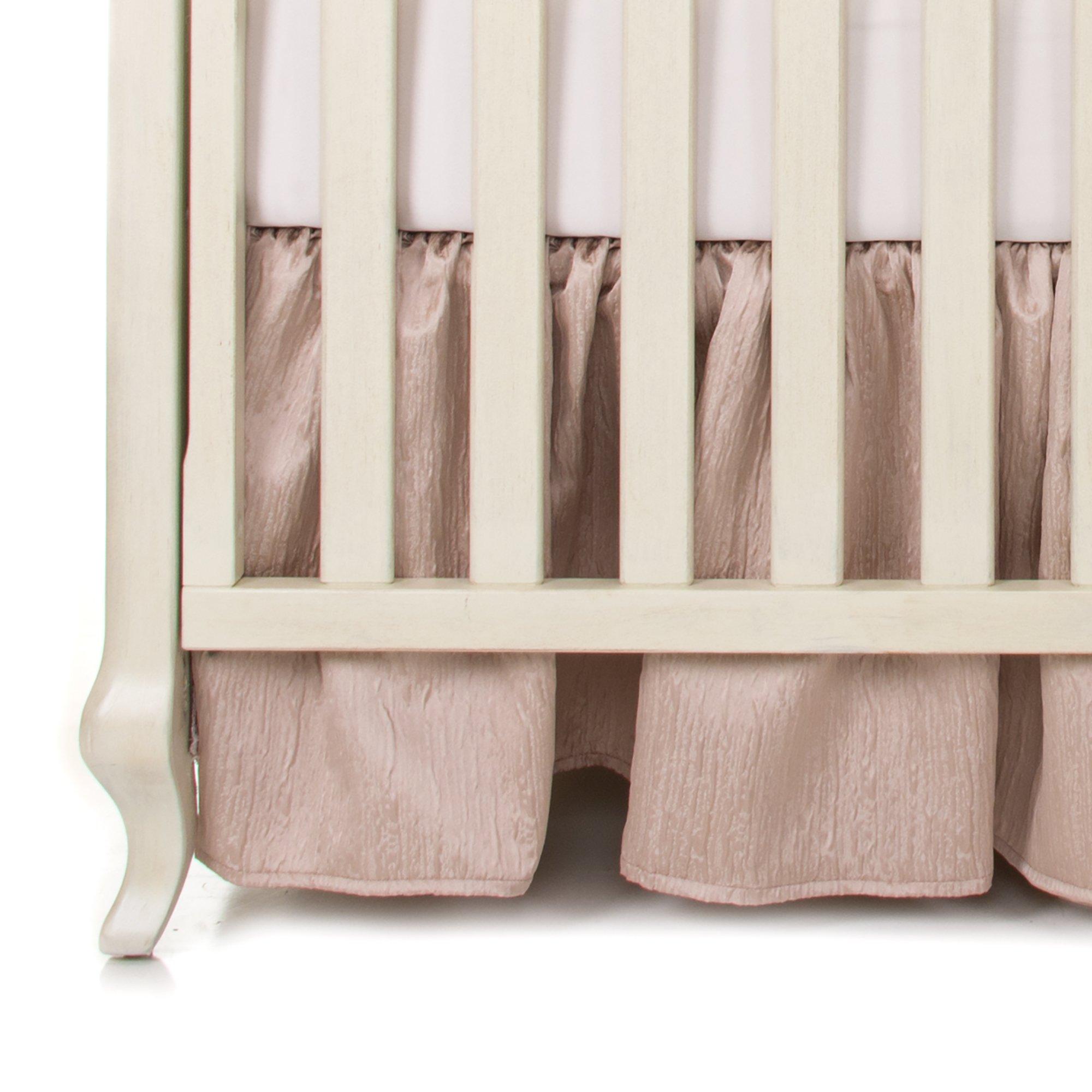 Glenna Jean Angelica Crib Skirt, Pink, one Size by Glenna Jean