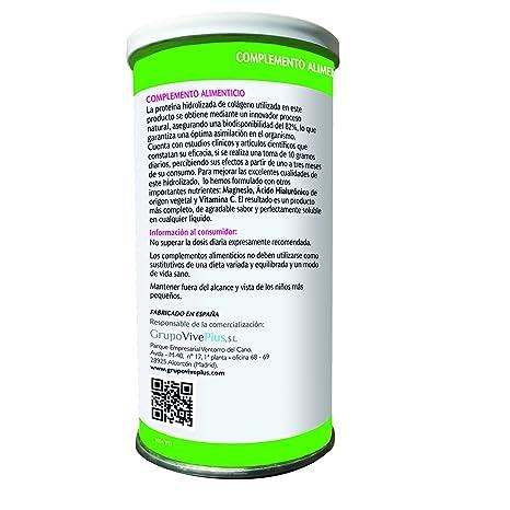 Vive+ Colágeno + Magnesio, Ácido Hialurónico y Vitamina C - 2 Paquetes de 200 gr - Total: 400 gr: Amazon.es: Salud y cuidado personal
