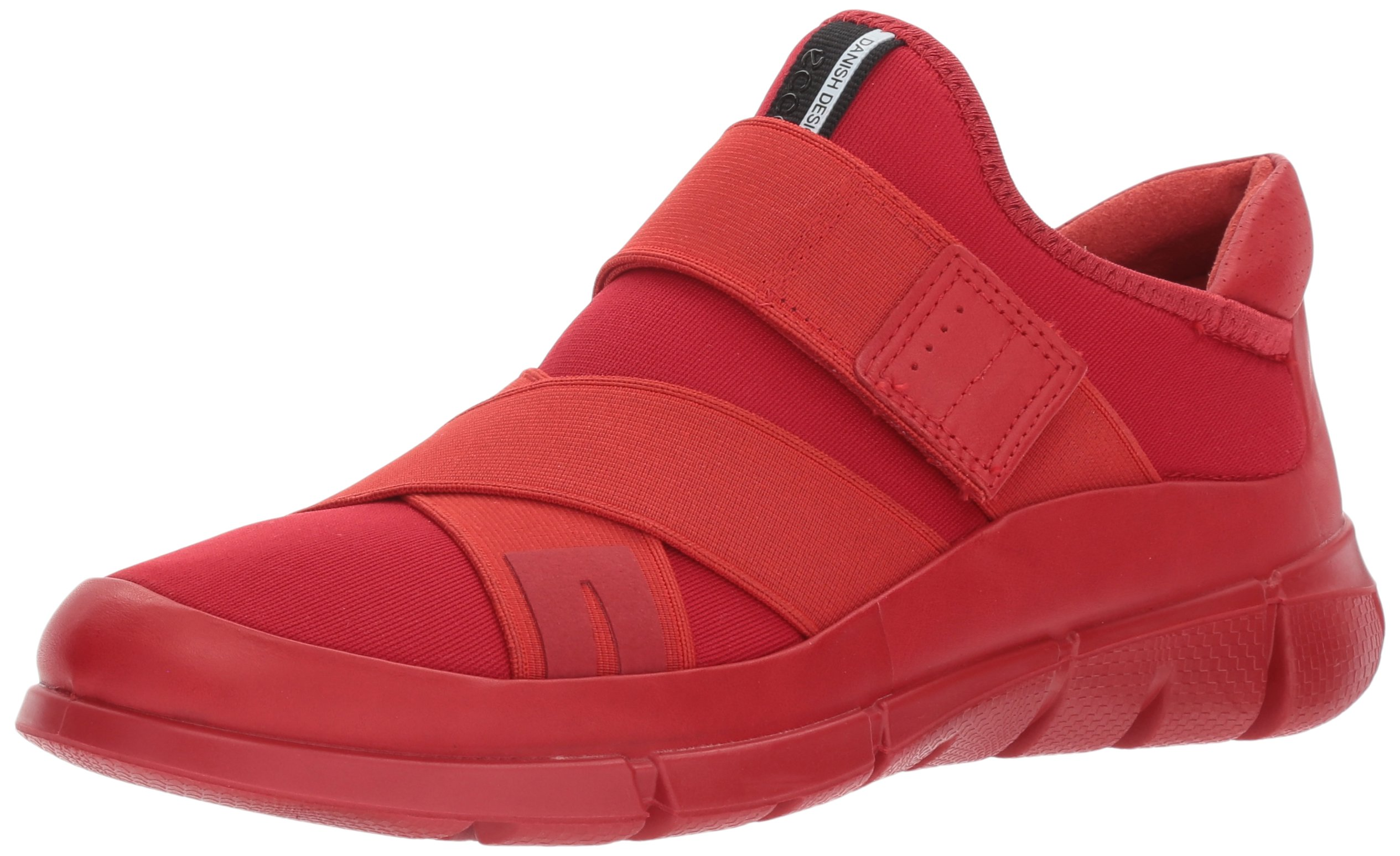ECCO Women's Women's Intrinsic Elastic Slip on Fashion Sneaker, Tomato/Tomato, 35 EU / 4-4.5 US