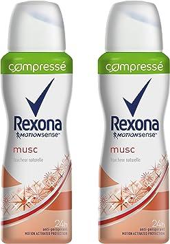 Rexona Desodorante Mujer spray almizcle comprimido 100 ml – juego ...