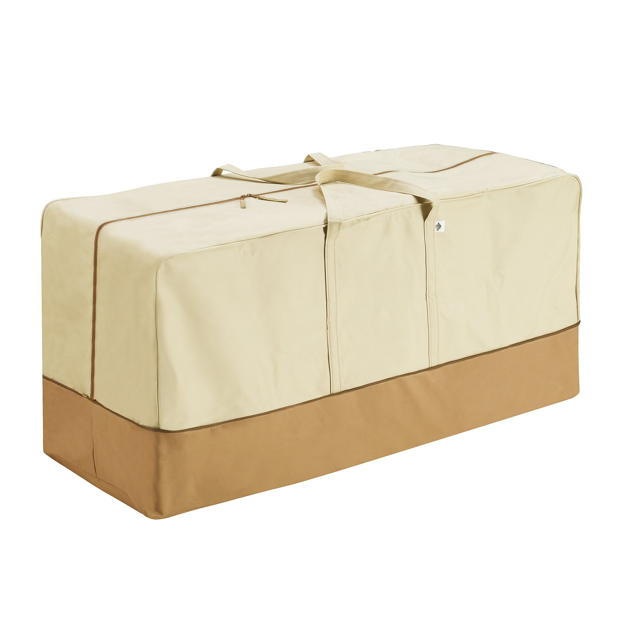 Villacera 83-DT5798 Patio Cushion Cover Bag, Beige and Brown
