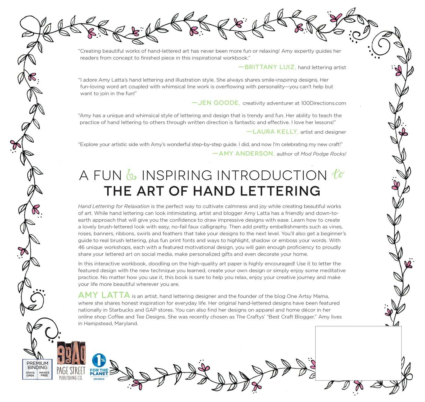 Amazon Hand Lettering For Relaxation An Inspirational Workbook Creating Beautiful Lettered Art 9781624143854 Amy Latta Books