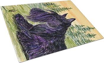 Multicolor Large Carolines Treasures SS8553LCB Scottish Terrier Glass Cutting Board